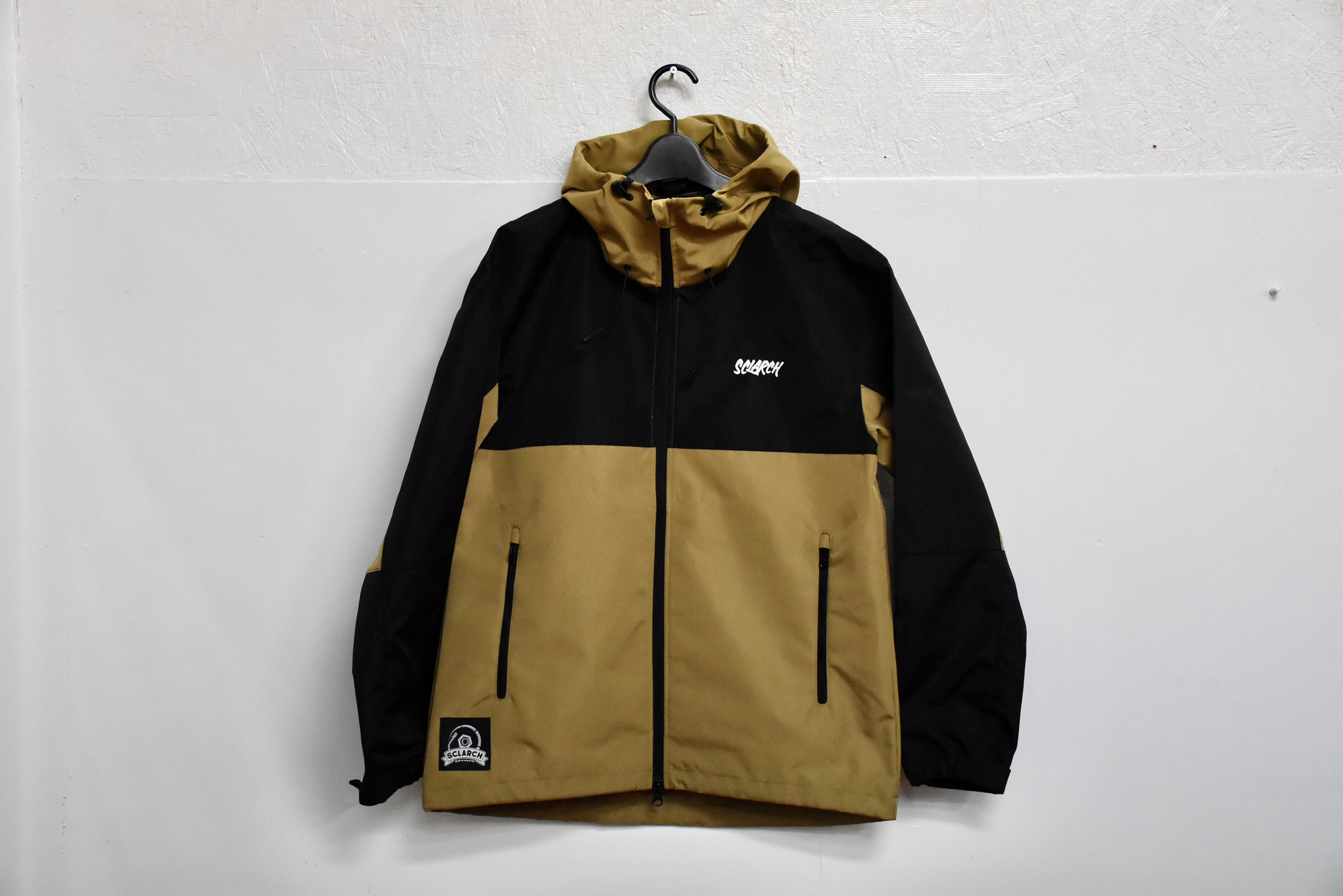 SCLARCH_SHELL_HOODIE_BROWN_BLACK