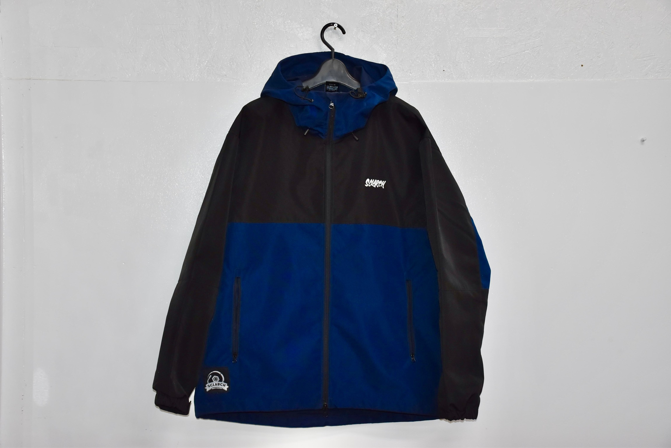 SCLARCH_SHELL_HOODIE_NAVY_BLACK