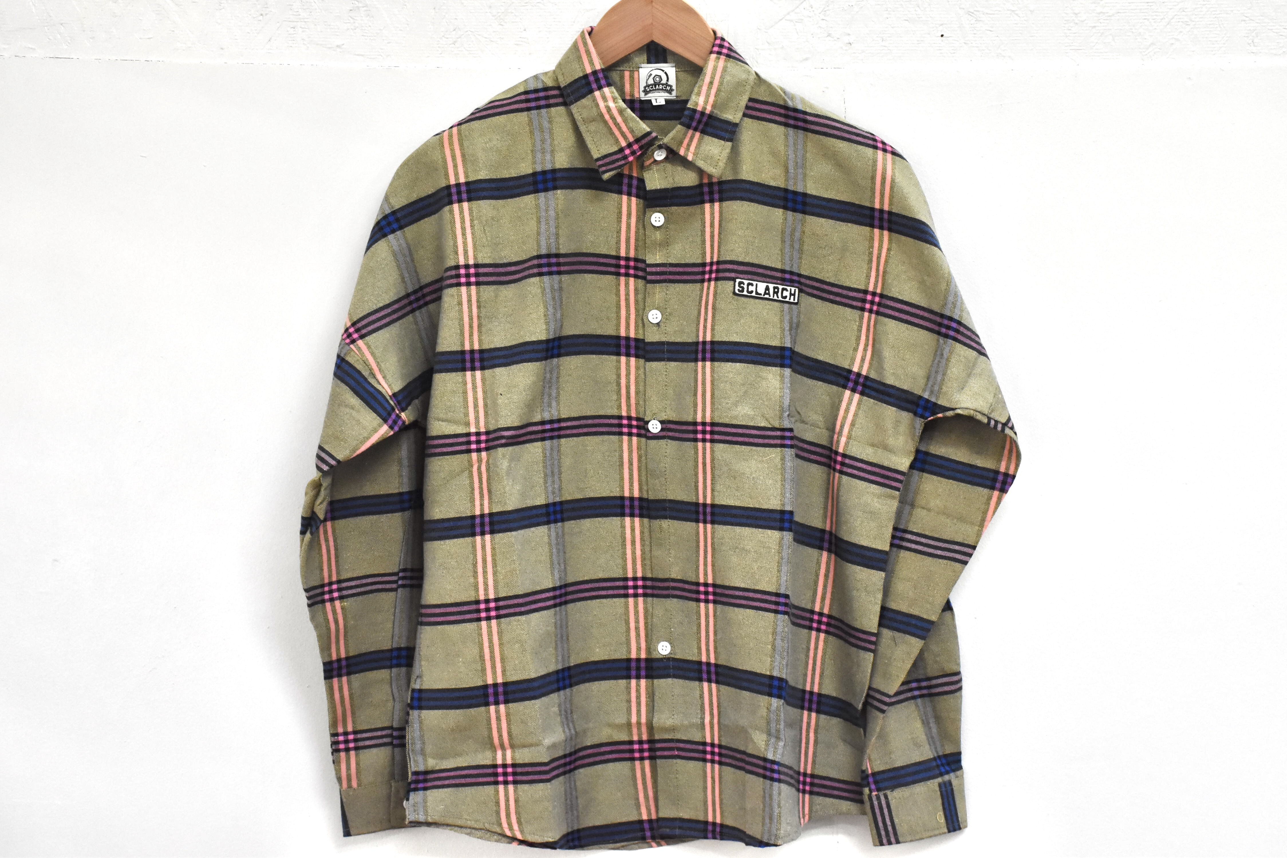SCLARCH_CHECK_SHIRT_BEIGE