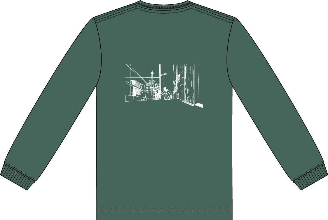 SCLARCH_6TH_ANNIVERSARY_LONG_TEE_IVY_GREEN