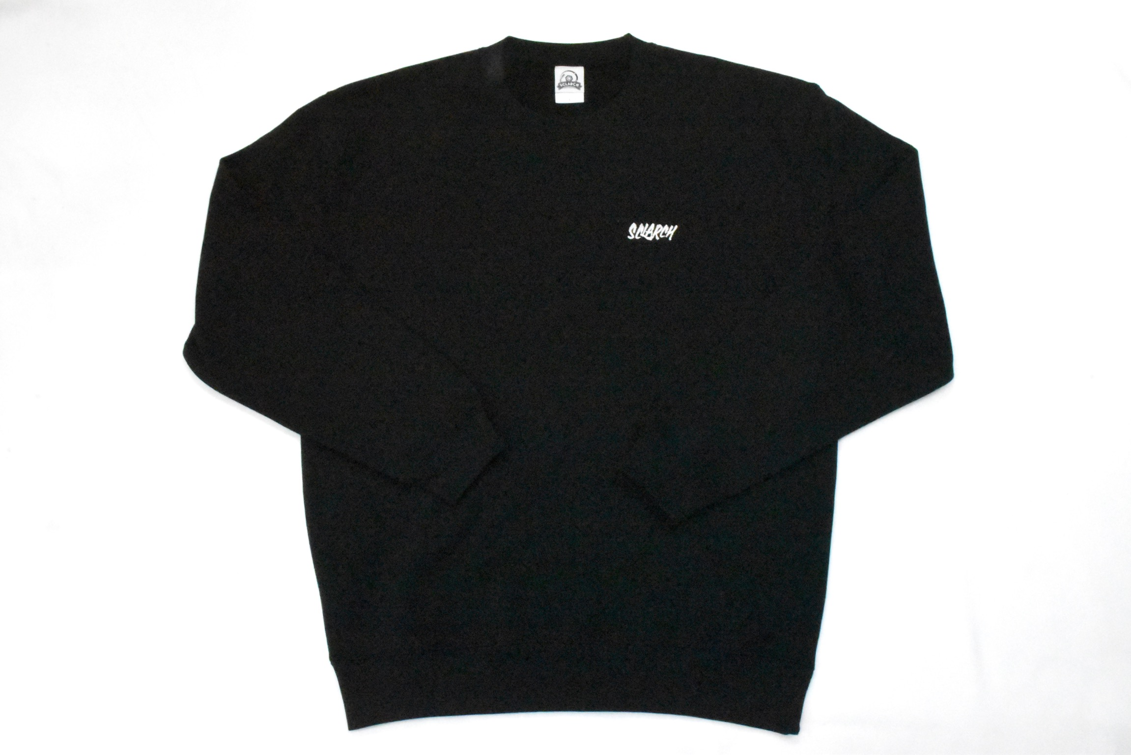 SCLARCH_EMBROIDERY_SWEAT_BLACK