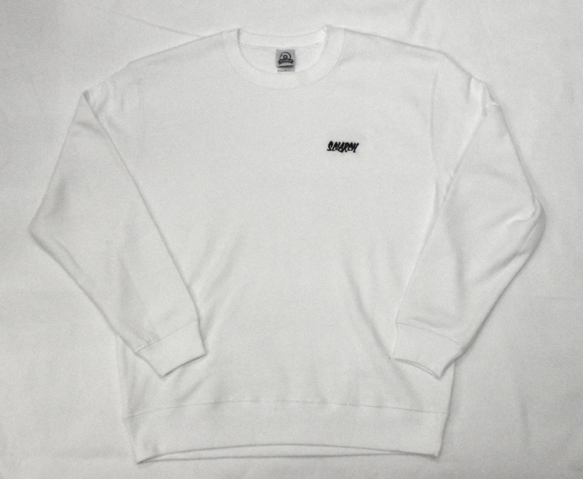 SCLARCH_EMBROIDERY_SWEAT_WHITE